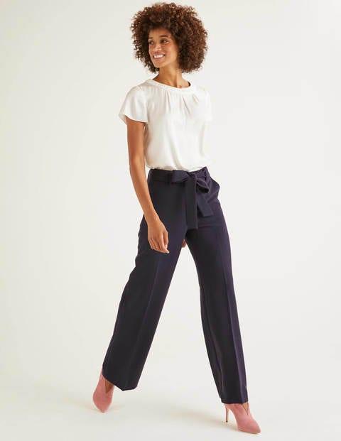 Hampstead Wide Leg Trousers - Navy