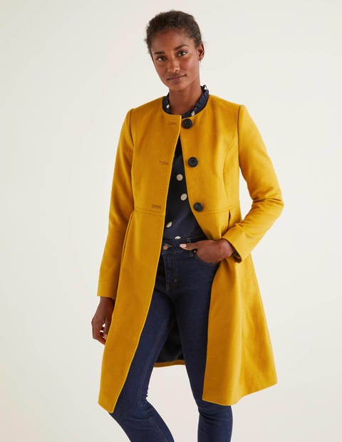 Christie Collarless Coat - Tuscan Sun