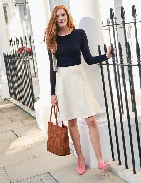 Catherick Textured Mini Skirt - Ivory
