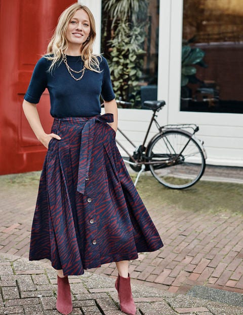 Lennox Button Skirt