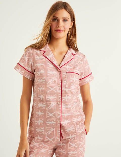 Chemise de pyjama Phoebe - Milkshake, drapeaux
