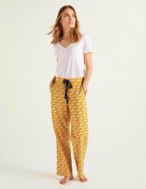 Phoebe Pj Bottoms - Yellow, Spotted Cheetah