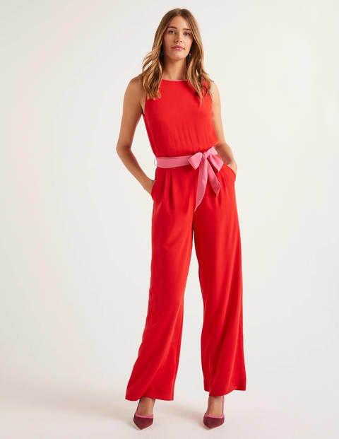 Lottie Jumpsuit - Red/Pink
