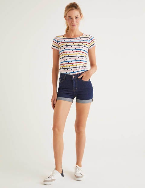 Kynance Denim-Shorts - Indigoblau