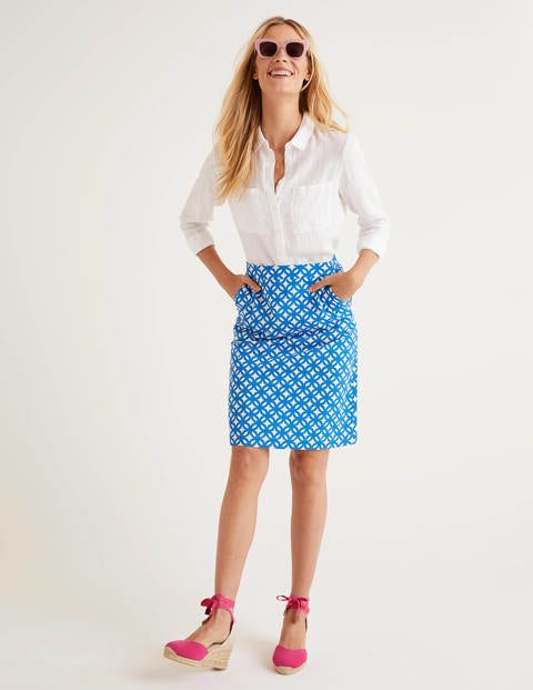 Francesca A-line Skirt - Bold Blue, Link