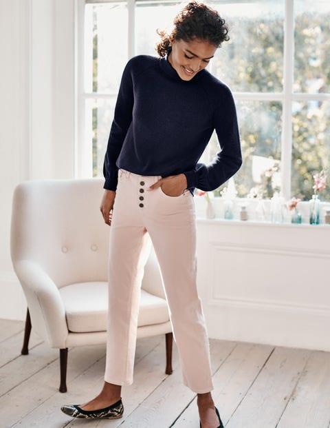 Gerade geschnittene Jeans mit Knopfleiste