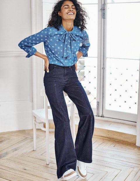 Front Line Wide Leg Jeans