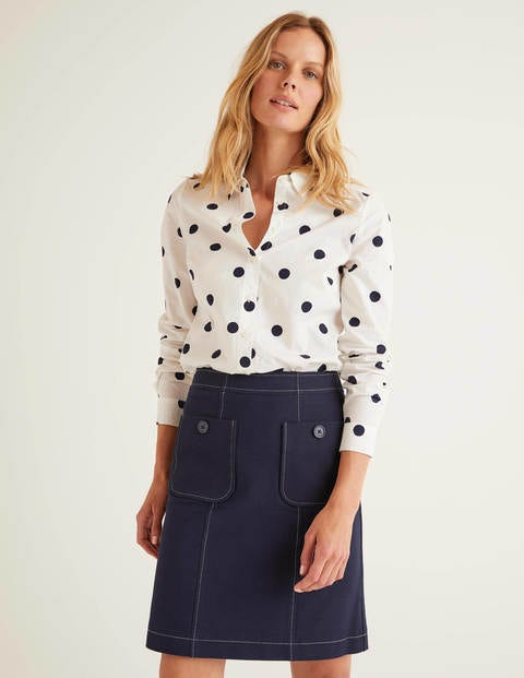 Modern Classic Shirt - Ivory and Navy, Brand Spot
