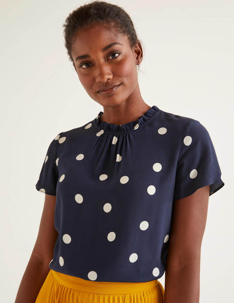Amanda Top - Navy, Scattered Spot