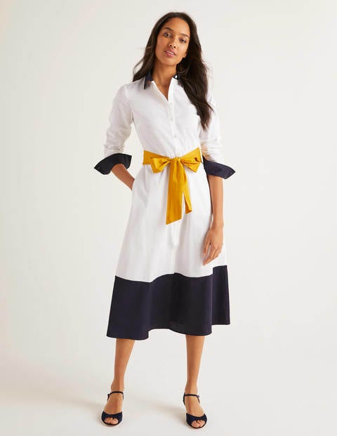 Isodora Midi Shirt Dress - White