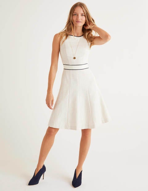 Matilda Textured Dress - Ivory