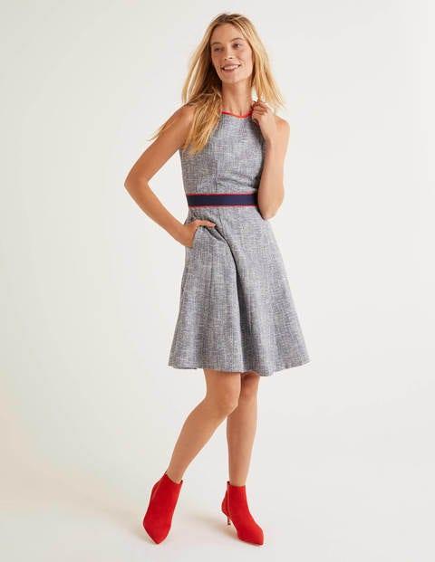Matilda Texturiertes Kleid Blue Damen Boden, Blue
