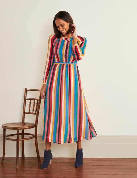 Erica Dress - Rainbow Multi Stripe