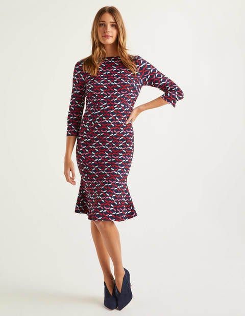 Violette Dress - Navy, Ribbons