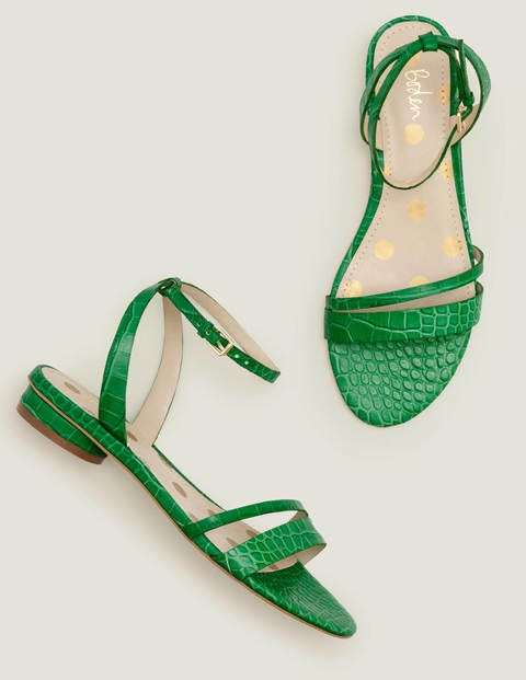 Freya Sandals - Rich Emerald Croc
