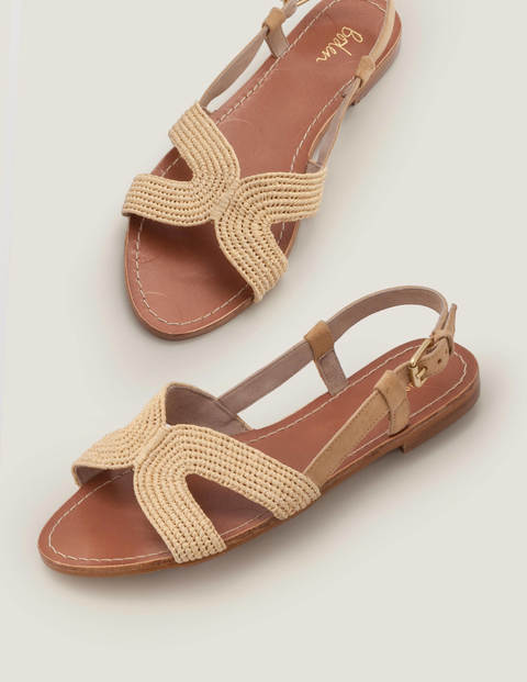 Katrina Raffia Sandals - Natural