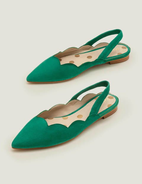 Lilian Slingbacks - Forest Green