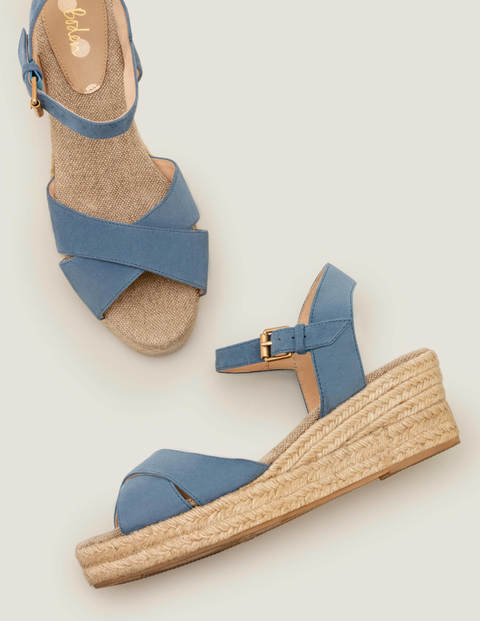 Jasmine Espadrille Wedges - Sailor