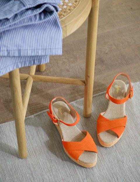 Jasmine Espadrille Wedges - Orange Sunset