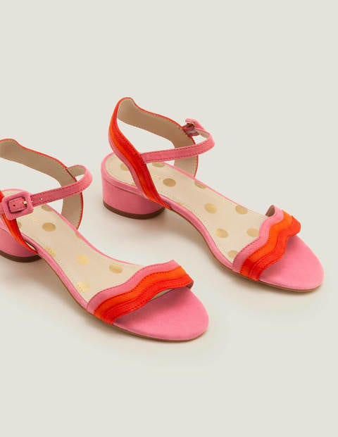 Kitty Heeled Sandals - Bright Camellia Multi