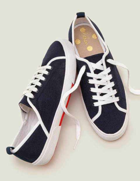 Laurie Plimsolls - Navy/White