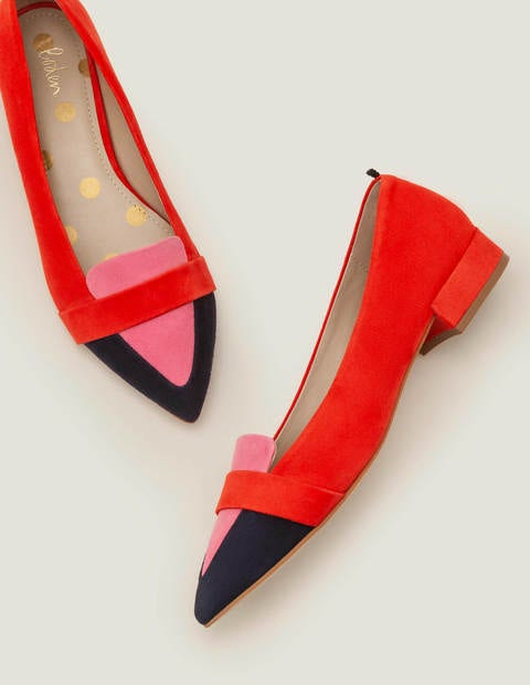 60s Shoes, Boots Scarlett Low Heels Red Women Boden Multicouloured £63.00 AT vintagedancer.com
