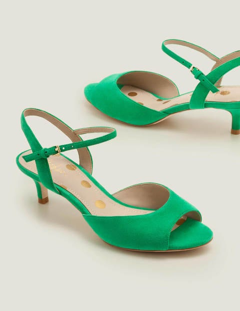 Auria Kitten Heels - Rich Emerald