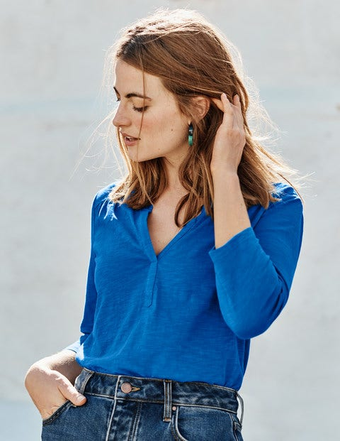 The Cotton Notch Tee - Bold Blue