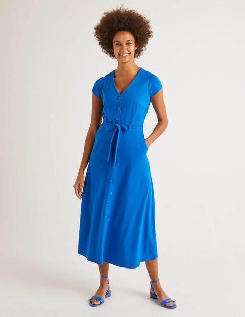 Frances Jersey Midi Dress - Bold Blue