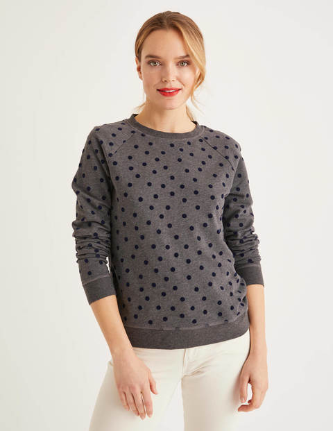 The Sweatshirt - Charcoal Marl/Navy, Flock Spot