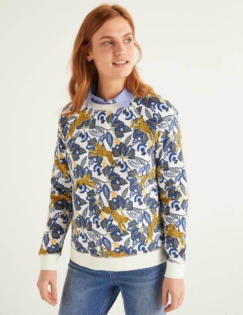 The Sweatshirt - Ivory, Cheetah Bloom