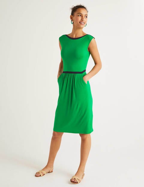 Eleanor Jersey Dress - Rich Emerald