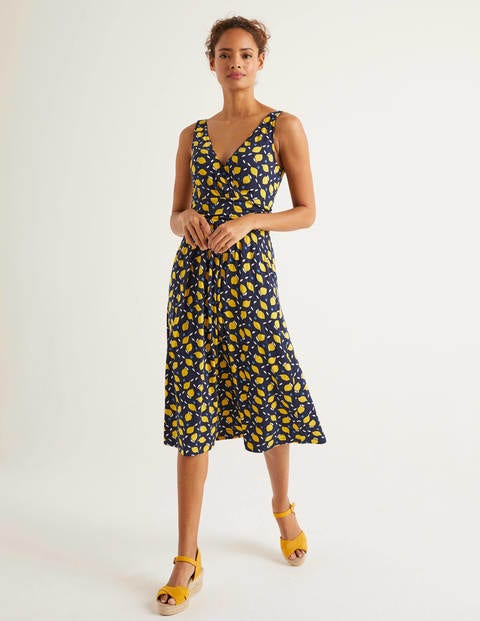 Effie Jerseykleid - Navy, Zitronen