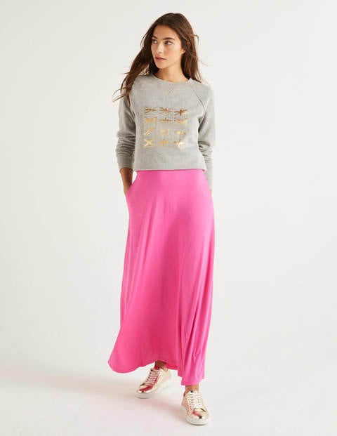 Jersey Maxi Skirt - Pop Pansy