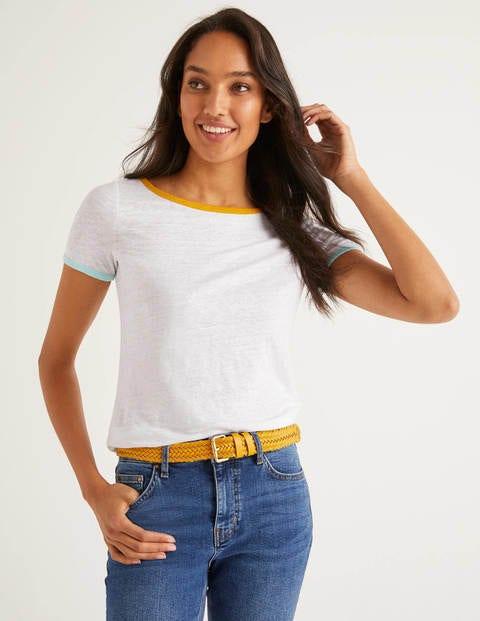 T-shirt Cornelia en lin - Blanc