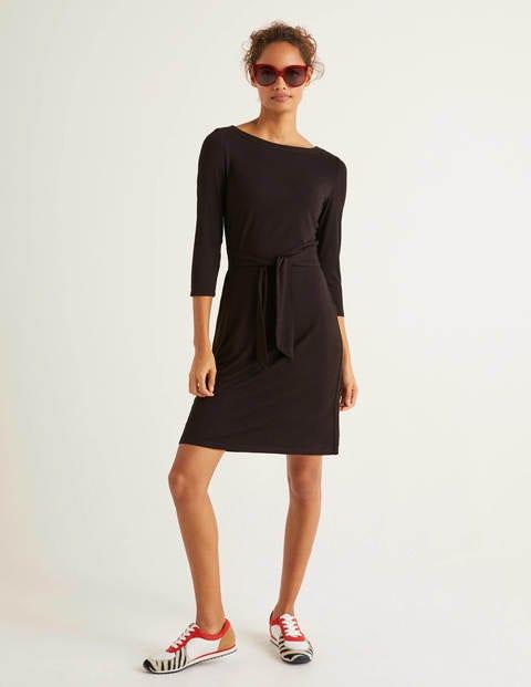 Sylvia Tie Jersey Tunic - Black