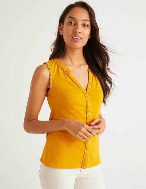 Dara Jerseyhemd mit Bommeln - Sonnengelb