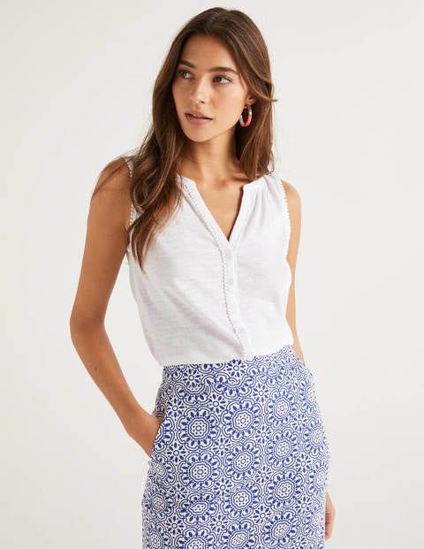 Dara Jerseyhemd mit Bommeln - Weiß