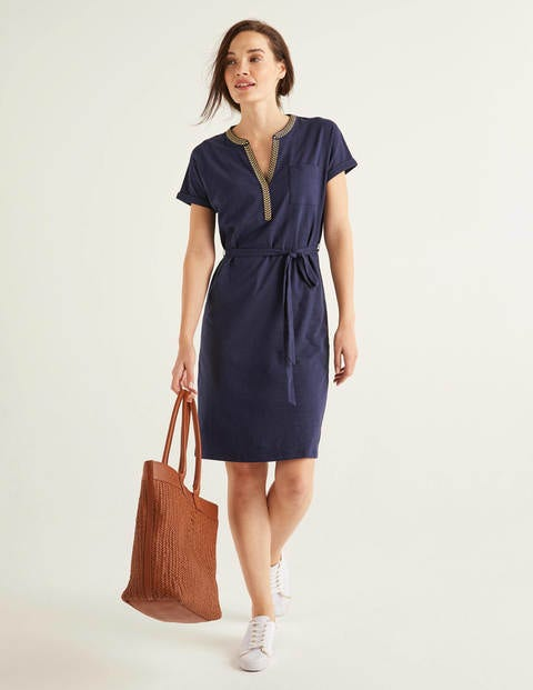 Dora Embroidered Jersey Dress