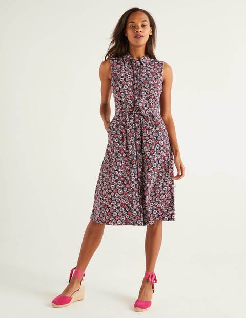 Rhoda Trim Jersey Shirt Dress