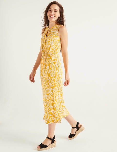 Eliza Jersey Midi Dress - Tuscan Sun, Spotty Paisley