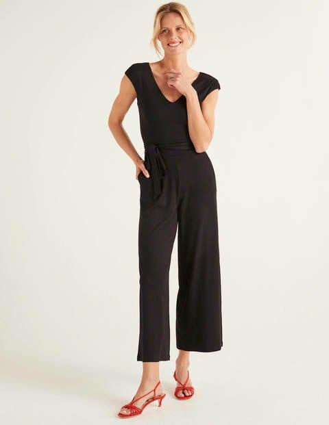 Corinne Jersey Jumpsuit - Black
