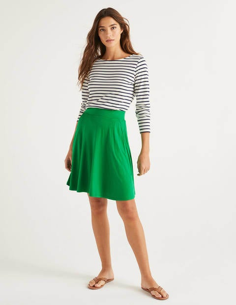 Edie Jersey Skirt - Rich Emerald