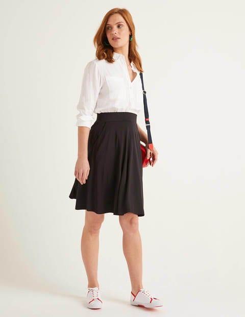 Edie Jersey Skirt - Black