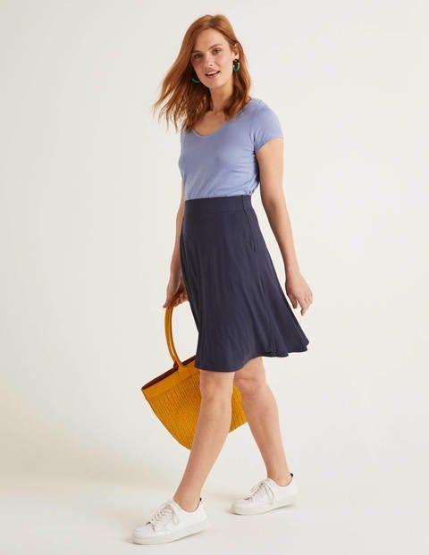Edie Jersey Skirt - Navy
