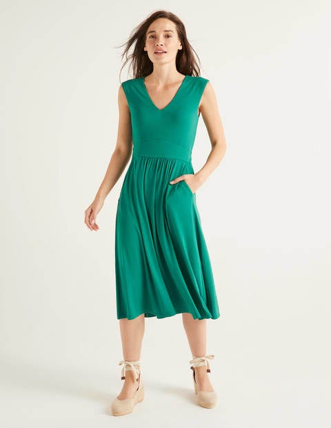 Odilie Jersey Dress - Forest