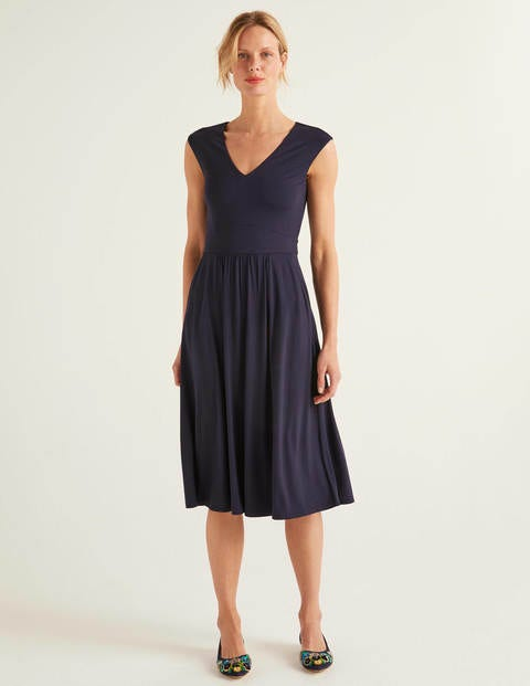Odilie Jersey Dress - Navy