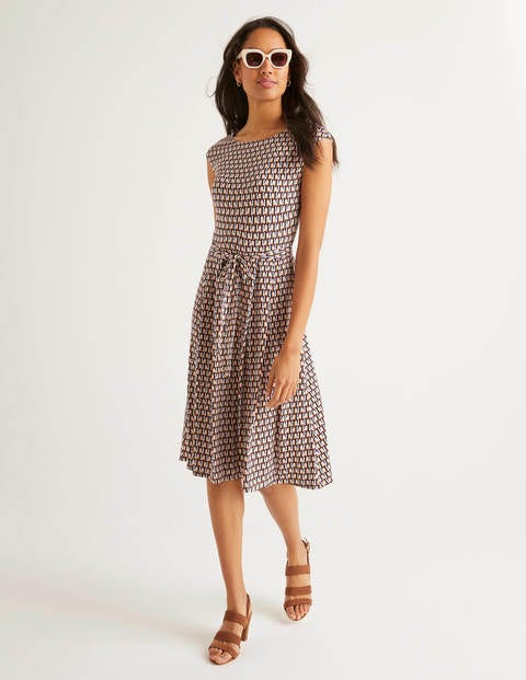 Esmeralda Jersey Dress - Milkshake, Facade Small