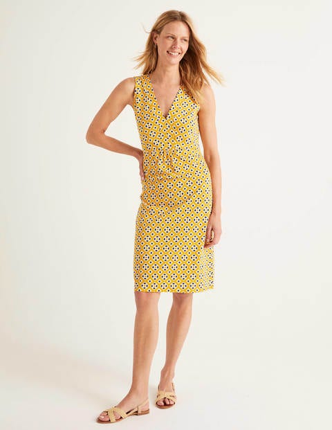 Eden Jersey Dress - Tuscan Sun, Diamond Drop