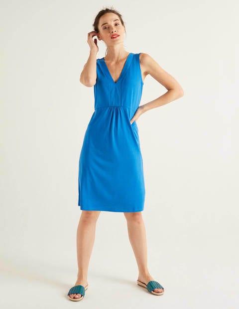 Eden Jersey Dress - Bold Blue